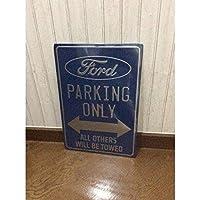 エンボス看板【FORD PARKING】/ フォード プレート サイン レート サイン サインボード ガレージ雑貨 サインプレート 看板