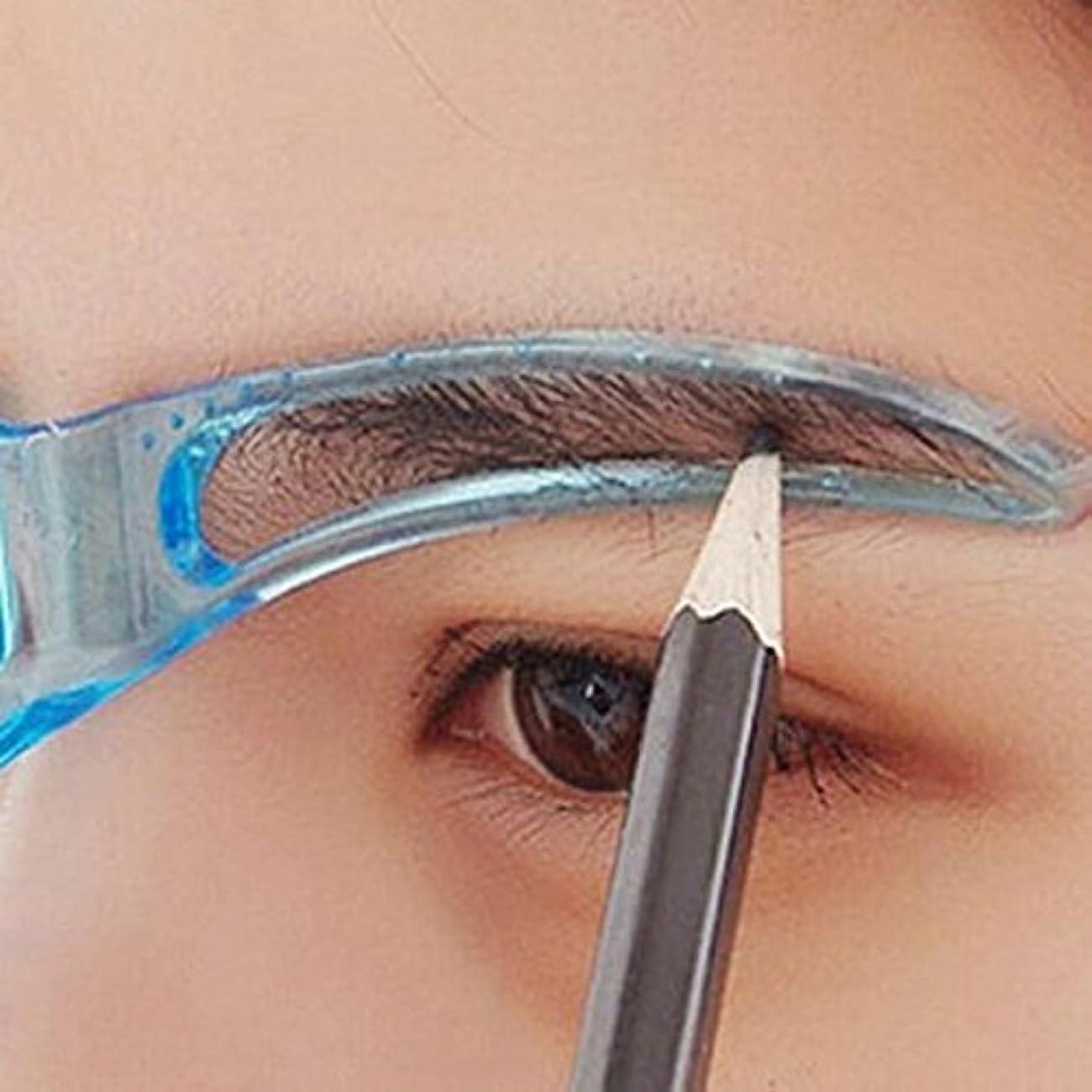 派手コーンウォール困惑プロの美容ツールメイクグルーミングデッサン黒くする眉毛の型板