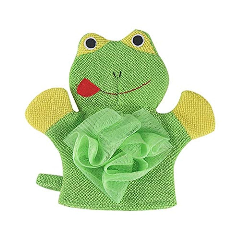 うがい凝視繊毛BTXXYJP お風呂用手袋 あかすり シャワー手袋 ボディブラシ やわらか バス用品 ボディタオル 角質除去 (Color : GREEN)