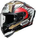 ショウエイ(SHOEI) バイクヘルメット フルフェイス X-Fourteen MARQUEZ MOTEGI2 TC-1(RED/WHITE) S (55~56cm) -