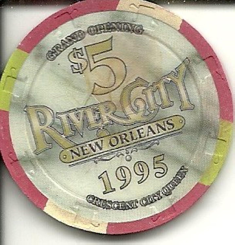 $ 5川City Obsoleteヴィンテージカジノチップ新しいOrleans 1995