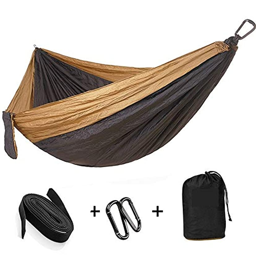 取り消すファンド乙女MSchunou ハンモックの木の革紐が付いている単一及び二重キャンプのハンモック、バックパッキング旅行のための携帯用パラシュートのナイロンハンモック