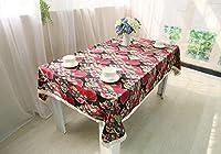 XixuanStore テーブルクロスコットンリネンテーブルクロスエスニック風プリントテーブルクロスレトロ布茶布 (Color : A, サイズ : 140*180cm)