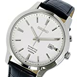 SEIKO セイコー KINETIC SKA743P1 WHITE DIAL BLACK LEATHER BAND MEN'S WATCH 男性用 メンズ 腕時計 [並行輸入品]
