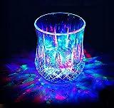 LED コップ 2セット 良品優選 液体感知 センサーネオン 電池交換可能 カラーLED付き 光る グラス 通電式 パイナップル型 グラス パーティー クラス bar ホームパーティ 誕生日 歓迎会 イベント