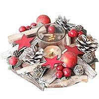 ZLZ- クリスマスの飾りデスクトップ北欧のディナーキャンドルデコレーションレストランホテルミニクリスマスツリーデコレーション 可愛い (Color : A, Size : 16*16*5cm)