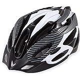模造用カーボンファイバー模造自転車用ヘルメット、マウンテンバイク用ヘルメット、ダイヤルフィット調整付き360度コンフォートシステム、大人用、青少年用、子供用,Black