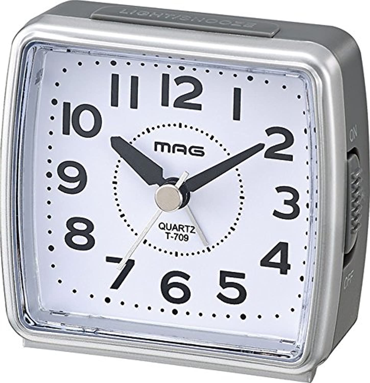 MAG 小時郎 (コジロウ) アナログ ミニ目覚まし時計 シルバー T-709 SM
