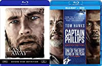 Tom Hanks Captain Philips DVD + [Blu-ray]& Cast Away Double Feature movie set