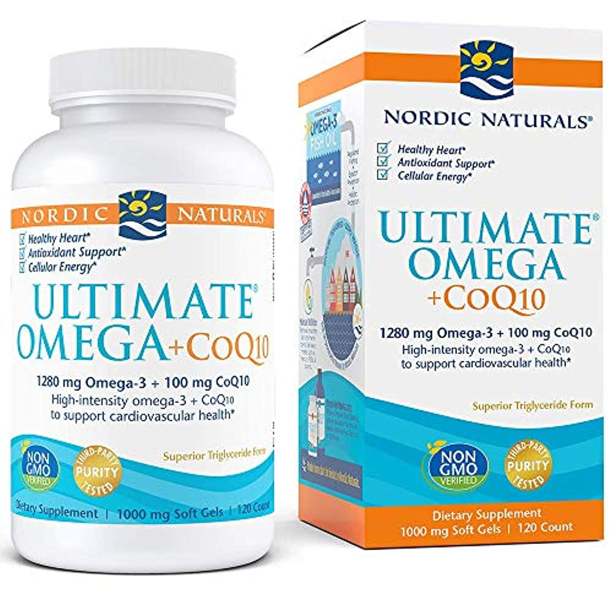 苗彫る栄光Nordic Naturals Ultimate Omega + CoQ10 アルティメットオメガ+コエンザイムQ10 120錠 [海外直送品]