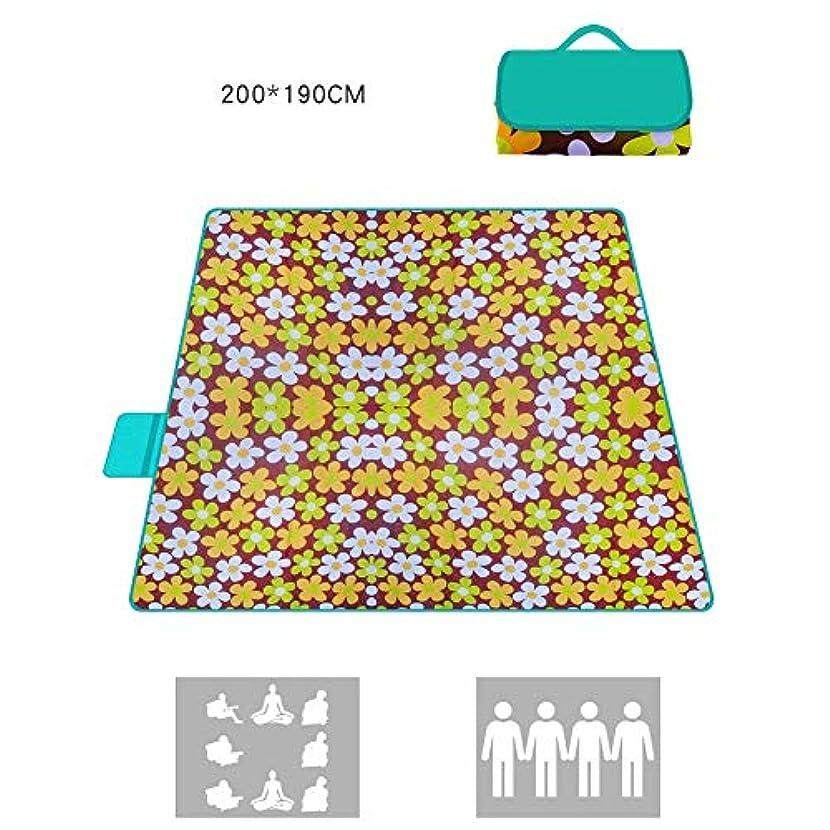 遅れ柔和同一のレジャーシート 屋外ピクニックマット毛布キャンプトートマットオックスフォード布ポータブル旅行ラグ防湿パッド1ミリメートル防水7色 (Color : G, Size : 200X190CM)