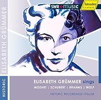 グリュンマー/リート集(モーツァルト:恐れるでない、愛する人よ/シューベルト:ズライカ2 他) (Lieder/Grummer)