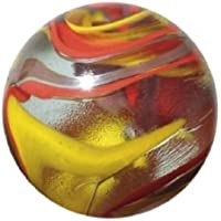 Mega Marble - FIESTA ToeBreaker - Jumbo 5.1cm Glass Marble with Stand