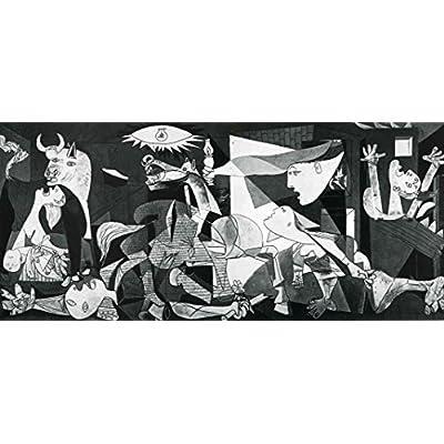 ピカソ 「ゲルニカ」シルク調生地 ファブリック アート キャンバス ポスター 約120×60cm [並行輸入品]