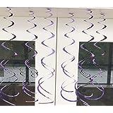 HuaQingPiJu-JP スパイラルハンギングプラスチック回転ペンダントオープンテールオーナメントライトパープル