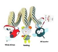 子供のおもちゃ ベッドコットンの子供用の添付ファイル、漫画動物の吊りラトルのプットルームのフラム(フクロウ)