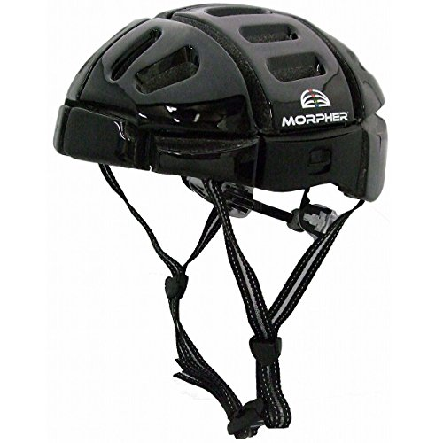 折り畳み可能で持ち運びらくらく サイクルヘルメット ブラック MORPHER FOLDING HELMET