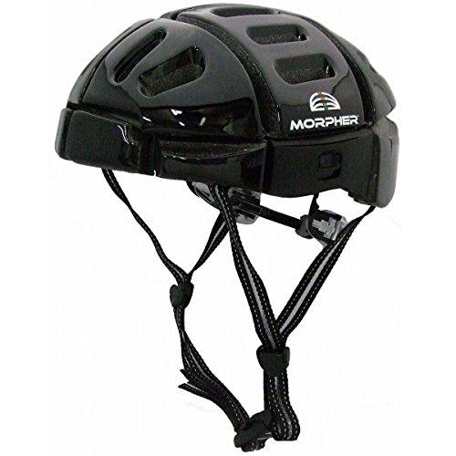折り畳み可能で持ち運びらくらく サイクルヘルメット ブラック MORPHER...
