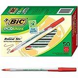 BIC Cristal Xtra Smooth Medium Ballpoint Pen (1.0mm) 24-Count Box, Black.6 Red