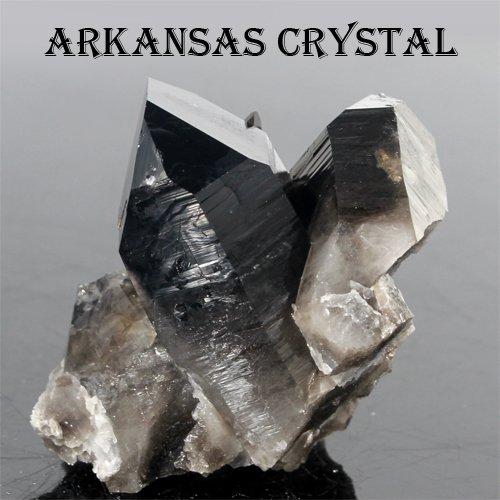 [해외]극상품 아칸소 산 Extra 스모키 쿼츠 (블랙 크리스탈) 클러스터 원석 [천연석 파워 스톤 액세서리]/Extreme goods Arkansas Extra Smoky Quartz (black crystal) Cluster Ore [natural stone power stone accessories]