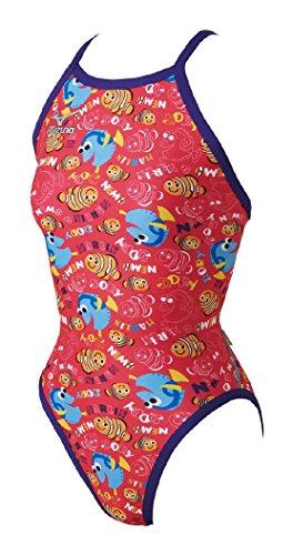 MIZUNO(ミズノ)競泳水着トレーニング・練習用レディースエクサースーツミディアムカットワンピースファイディングニモN2MA728064サイズ:XLピンク