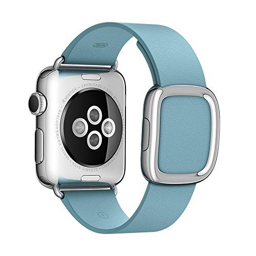BRG アップルウォッチ レザー バンド Apple watchベルト 本革 38mm ケース 用 モダンバックル マグネット 式 交換バンド ( 38mm ブルージェイ )