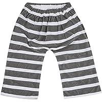 【収納ポーチ付】 おねしょ対策 ズボン ボーダーグレー フリーサイズ(3歳~5歳くらい)