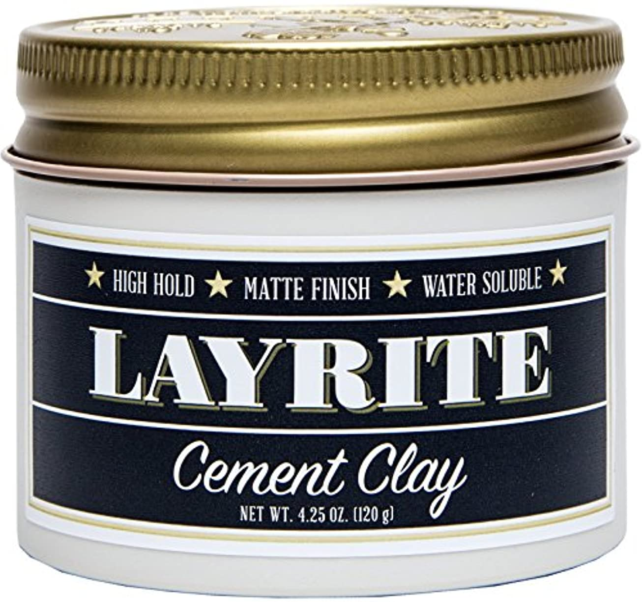 ローマ人強調する前方へLayrite Cement Clay (High Hold, Matte Finish, Water Soluble) 120g/4.25oz並行輸入品