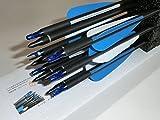 アーチェリー 矢 カーボン矢 12本セット 32インチ 弓 完成矢 ねじ式ポイント ダース セット