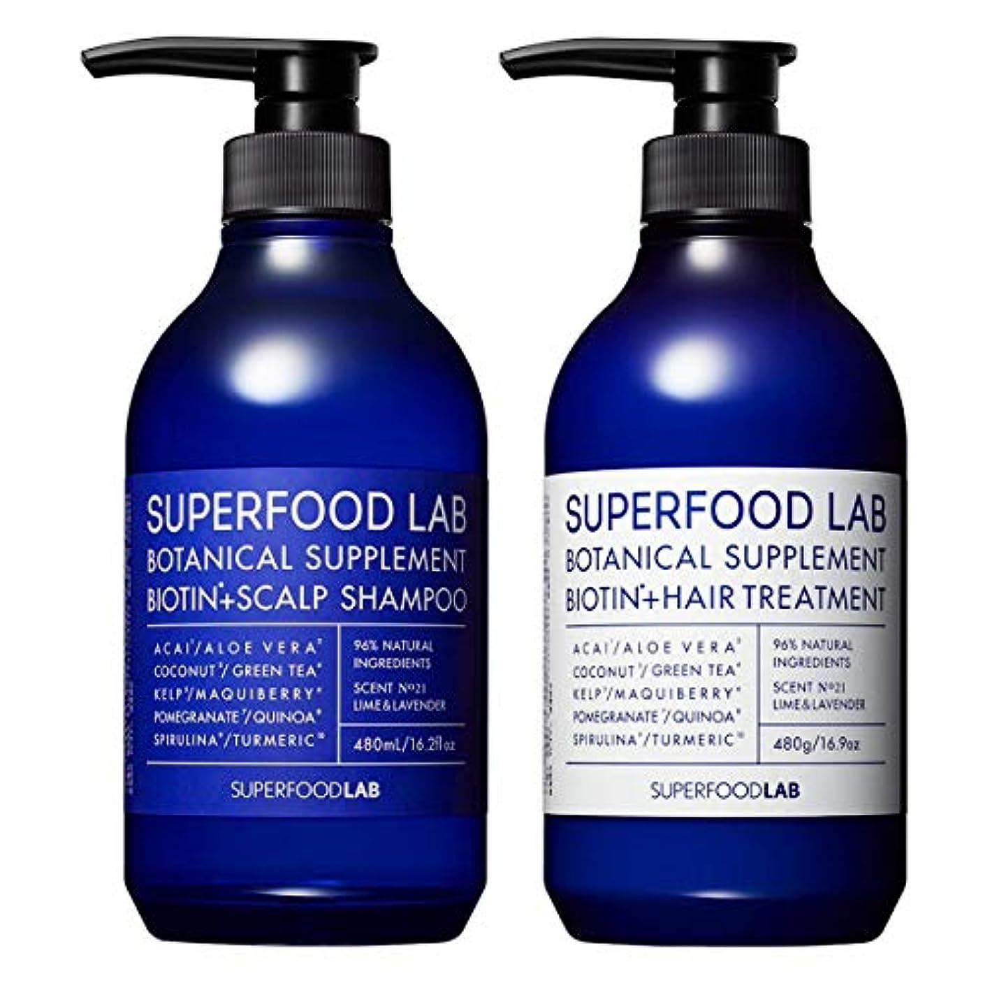 割り込み迷信絵SUPERFOOD LAB BIOTIN + SCALP SHAMPOO & TREATMENT