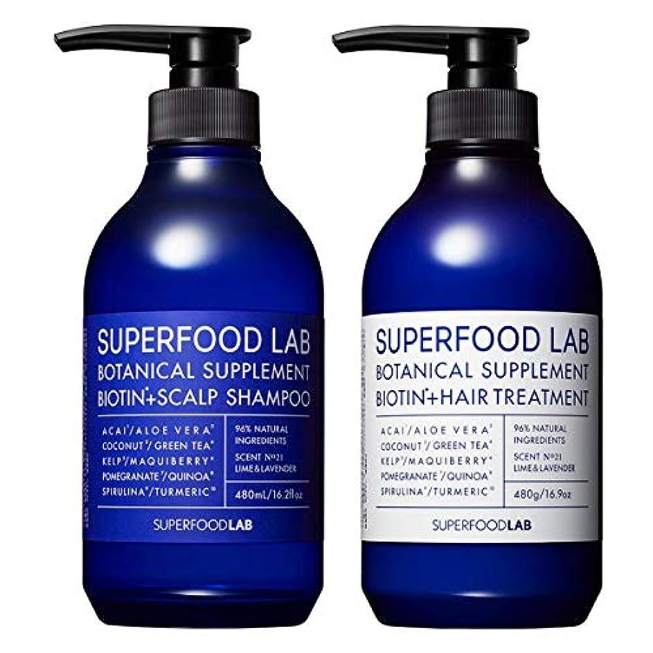 テセウスその間お酒SUPERFOOD LAB BIOTIN + SCALP SHAMPOO & TREATMENT