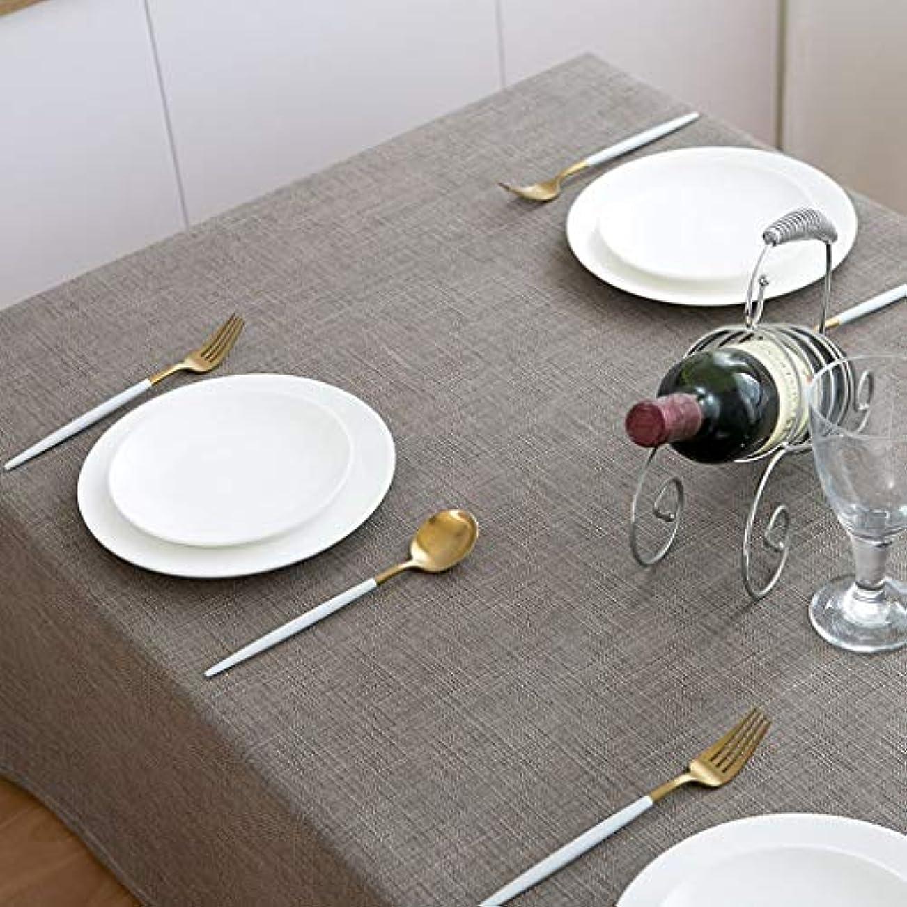 擬人化好意アドバンテージテーブルクロス 北欧 長方形 120×180cm テーブルカバー 無地 綿麻 おしゃれ 簡約 食卓カバー 防塵 耐熱 滑り止め ナチュラル 雰囲気 新築お祝い 贈り物 多色選択