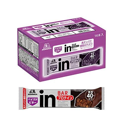 【Amazon.co.jp 限定】inバー プロテイン ベイクドビター (14本入×1箱) 甘さ控えめ しっとり焼きチョコバータイプ 高タンパク10g 糖質40%オフ