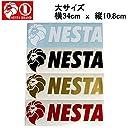 【NESTA BRAND】ネスタブランド New横ステッカー大サイズ/34cm×10.8cm/ホワイト ブラック ゴールド レッド WHT