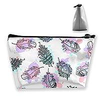 綺麗な葉 化粧ポーチ メイクポーチ 機能的 大容量 化粧品収納 小物入れ 普段使い 出張 旅行 メイク ブラシ バッグ 化粧バッグ