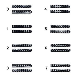 プライスキューブ単品(L)黒/白文字 +税