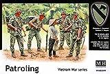 マスターボックス 1/35 米・第一空挺騎兵師団4体 + 民間女性1体 ベトナム戦