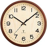 アイリスプラザ 天然木 掛け時計 電波時計 ダークブラウン 29cm OTI-02
