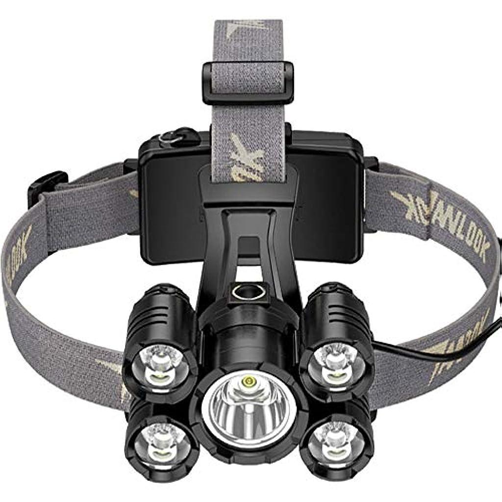 コーラス解読する岩LZRDZSW 充電式LEDヘッドトーチ、実行中のヘッドランプ防水ヘッドランプ用USB充電式ヘッドライトズーム可能なヘッドトーチキャンプ実行釣りのための4つのライトモード付き アウトドア、キャンプ大人のための