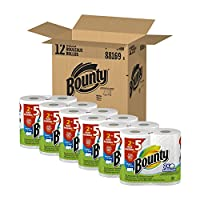 Bounty、HugeWhite select-a-size PaperTowels、値パック合計24の巻