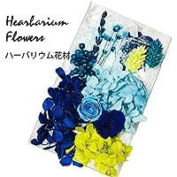 ハーバリウム 花材セット (天然石ラピスブルー)