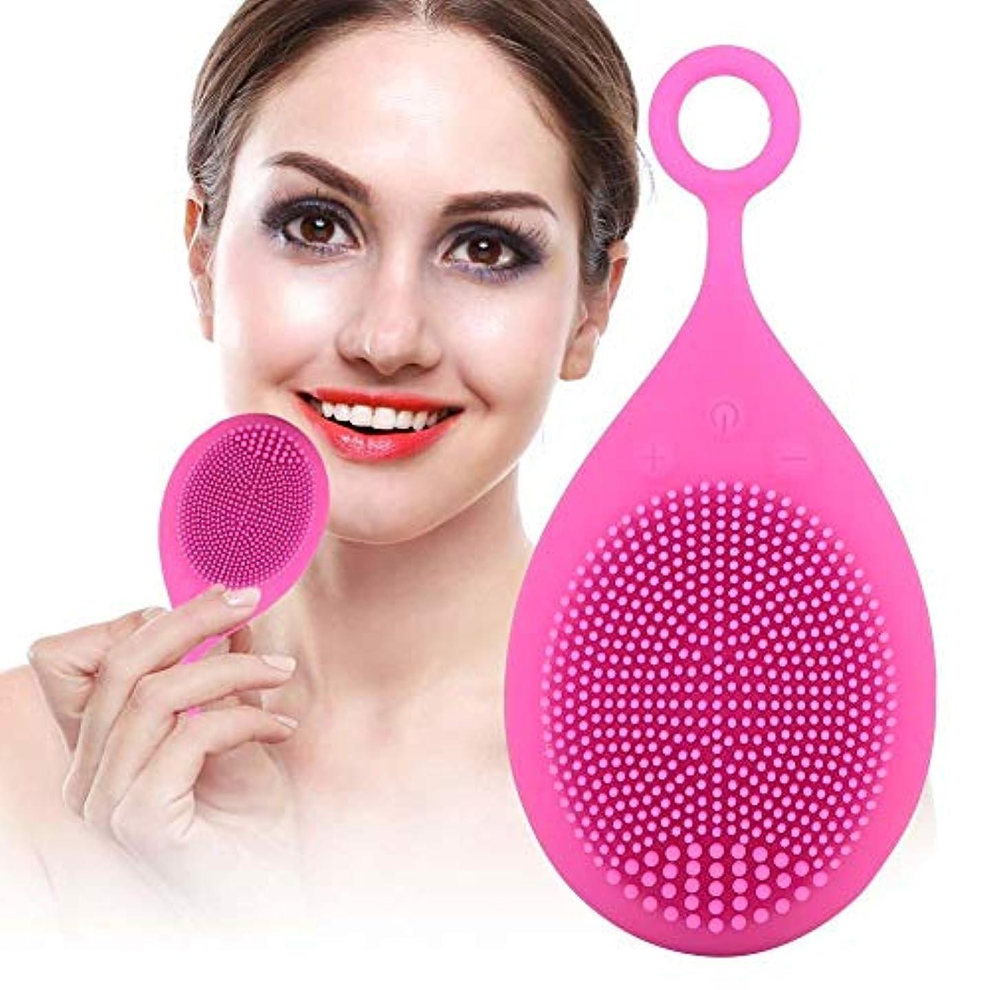 段階超高層ビル助言する洗顔ブラシ、携帯用電気クレンジングブラシ、スキンケア剥離用電動マッサージブラシ
