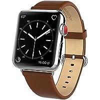 HOCO コンパチブル Apple Watch 4バンド アップルウォッチ バンド 本革 ビジネススタイル 高級レザー 耐磨耗性 通気 簡単に装着 Apple ウォッチ Series4/ 3 / 2 / 1に対応 交換ベルト (ブラウン 42/44mm)