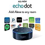 All-New Echo Dot (2nd Generation) - Black  アマゾン エコー 黒 ブラック 新作 Bluetooth スピーカー スマートホームデバイス 並行輸入品 [並行輸入品]