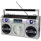Studebaker SB2149S Master Blaster Bluetooth Boombox with 3 Way Power, AM/FM Radio, USB Port, CD Player with MP3 Playback, LED