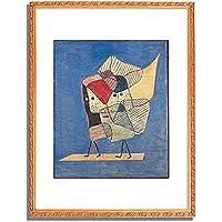 パウル・クレー 「Twins. 1930 」 インテリア アート 絵画 壁掛け アートポスターフレーム:装飾(金) サイズ:M(306mm X 397mm)