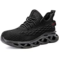 Lightweight Safety Shoes Work Shock Absorbing Air Mesh Breathable Sneakers, Steel Toe Caps Protection Shoes