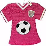 Pink Soccer Jersey Pinata by Everybodylovespinatas