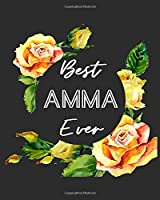 """Best Amma Ever: Grandmother Gratitude Journal 386 Pages Notebook 193 Days 8""""x10"""" Meal Planner"""