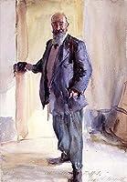 ¥5K-200k 手書き-キャンバスの油絵 - 美術大学の先生直筆 - Portrait of Ambrogio Raffele John Singer Sargent 絵画 洋画 複製画 ウォールアートデコレーション -サイズ13